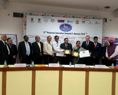 """12TH NATIONAL EDUCATION SUMMIT & AWARD 2018 FOR """"EXCELLENT IT ENABLED SCHOOL IN INDIA""""."""